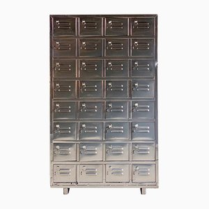 Vintage Industrial Metal Lockers Cabinet, 1940s