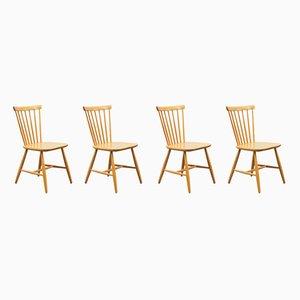 Chaises de Salle à Manger de Hagafors, années 50, Set de 4