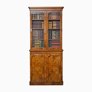 Antique Victorian Walnut Bookcase