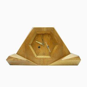 Horloge en Bois de tilleul par Siegfried Pütz, années 20