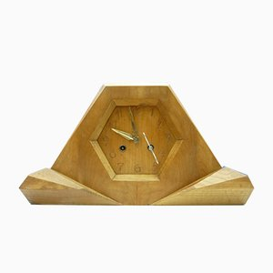 Limewood Clock by Siegfried Pütz, 1920s