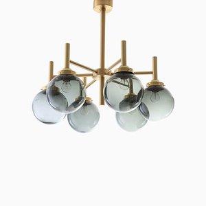 Lampadario moderno di Uno & Östen Kristiansson per Luxus, Scandinavia, anni '70