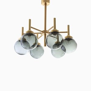 Scandinavian Modern Chandelier by Uno & Östen Kristiansson for Luxus, 1970s