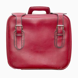 Red Leather Suitcase from Capebo, 1970s