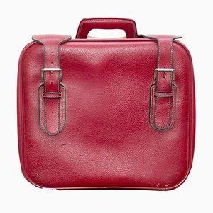 Valigia in pelle rossa di Capebo, anni '70