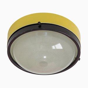 Stehlampe in Gelb & Schwarz von Gino Sarfatti für Arteluce, 1960er