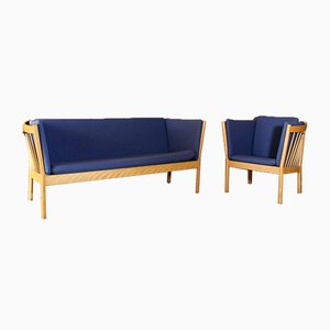 J149 Sofa & J146 Armchair by Erik Ole Jørgensen for fdb MØBLER, 1970s, Set of 2