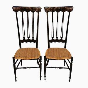 Beistellstühle von Chiavari für Chiavari, 1950er, 2er Set