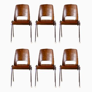 Dining Chairs by Joamin Baumann for Baumann, 1960s, Set of 6