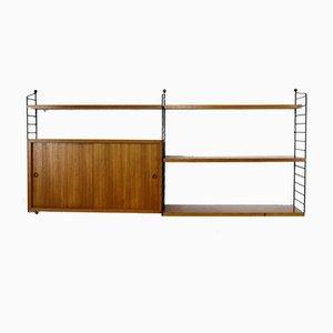 Teak Veneer Wall Unit by Kajsa & Nisse Strinning for String, 1960s
