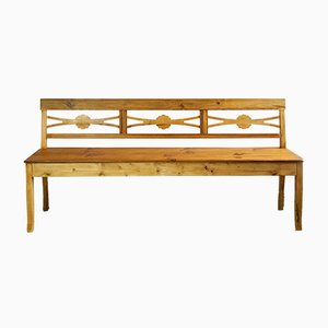 Antique Biedermeier Kitchen Bench