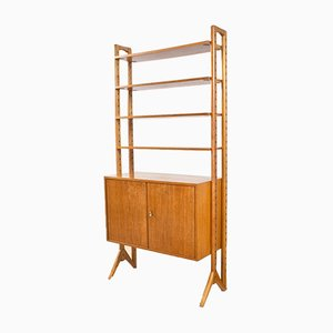 Swedish Oak Wall Unit from Edsby Verken, 1950s