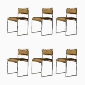 Esszimmerstühle von Willy Rizzo, 1969, 6er Set