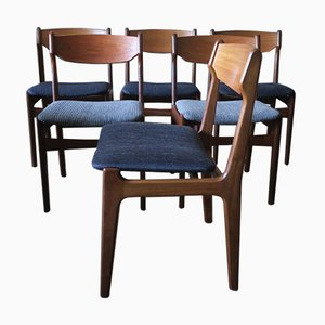Danish Teak Dining Chairs by Erik Buch, 1960s, Set of 6