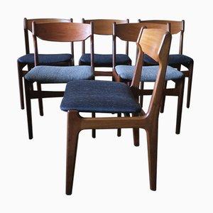 Sedie da pranzo in teak di Erik Buch, Danimarca, anni '60, set di 6