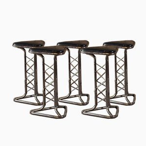 Bar Stools, 1970s, Set of 5