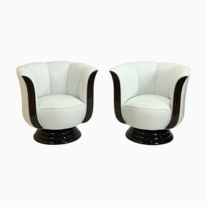 Tulip Shaped Lounge Chairs from Adm Art Déco Moderne, Set of 2