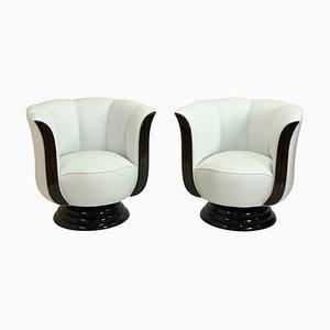 Tulpenförmige Sessel von Adm Art Déco Moderne, 2er Set