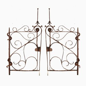 Antique Art Nouveau Gate, Set of 2