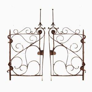 Porte o cancelli Art Nouveau antichi, set di 2
