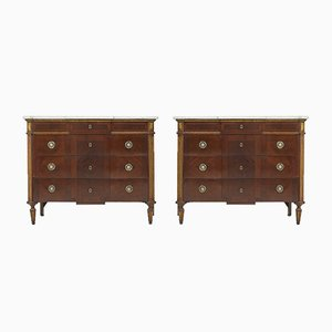 Antique Spanish Marble Commodes, Set of 2