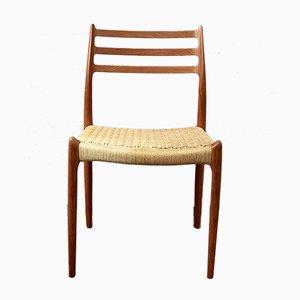Chaise de Salon en Teck par Niels Otto Møller pour JL Møllers, années 50