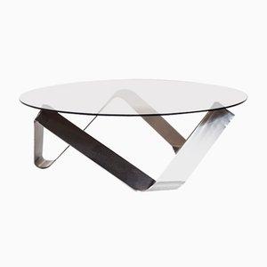 Mesa de centro de vidrio de Knut Hesterberg para Ronald Schmitt, años 70