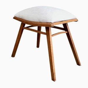 Mid-Century Handmade Footstool
