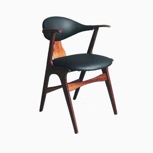 Sedia in pelle di mucca di Louis van Teeffelen per AWA Meubelfabriek, anni '50