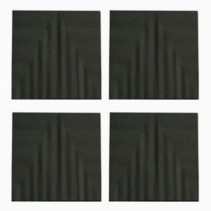 Black Tea Coasters by Dust London, Set of 4
