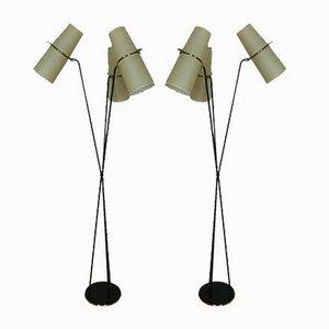 Lampade da terra di Lunel, anni '50, set di 2
