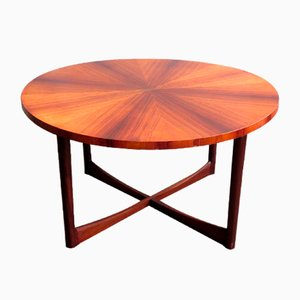 Rosewood Veneer & Teak Coffee Table, 1960s