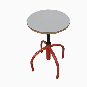Red Swivel Stool, 1970s