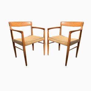 Sedia da pranzo in teak di H. W. Klein per Bramin, anni '60