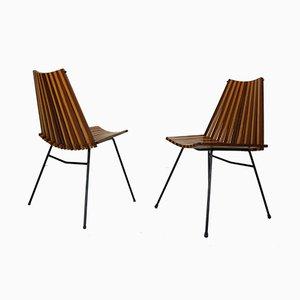 Moderne Beistellstühle von Dirk van Sliedregt für Rohé Noordwolde, 1960er, 2er Set