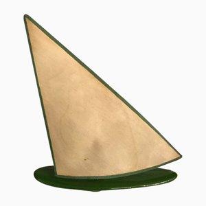Lampada da tavolo a forma di barca a vela in ceramica, anni '60