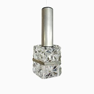 Hängelampe aus Kristallglas von Kinkeldey, 1970er
