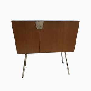 Black Formica & Ash Wood Cabinet from Verralux, 1960s