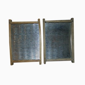 Mid-Century Iron Washboard, Set of 2