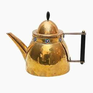 Antique Art Nouveau Brass Teapot by Paul Troost, 1900s