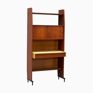 Italian Bookcase with Desk, 1960s