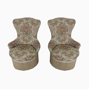Italian Fabric Armchairs, 1950s, Set of 2