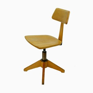 Beech Vintage Swivel Chair from Sedus