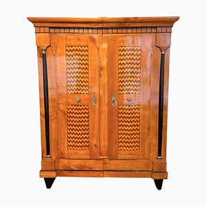 Antique German Biedermeier Cherry Cabinet