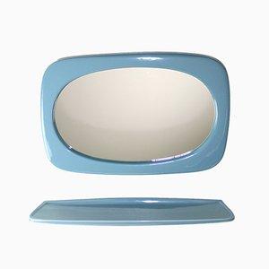 Espejo con estante de Austrovit, años 60. Juego de 2