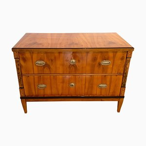 Antique Biedermeier Cherry Commode