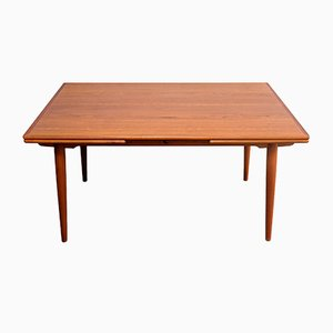 AT-312 Teak Dining Table by Hans J. Wegner for Andreas Tuck, 1960s