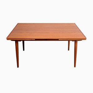 Mesa de comedor AT-312 de teca de Hans J. Wegner para Andreas Tuck, años 60