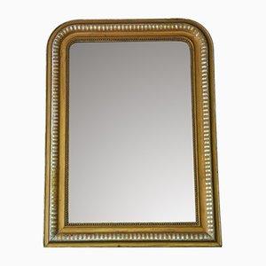 Specchio antico con finitura argentata e dorata