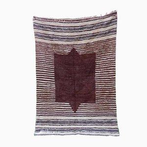 Tappeto o coperta bohemien marrone, anni '70